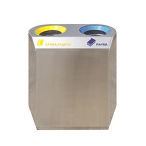sugo stainless steel combined recycle bins 1026