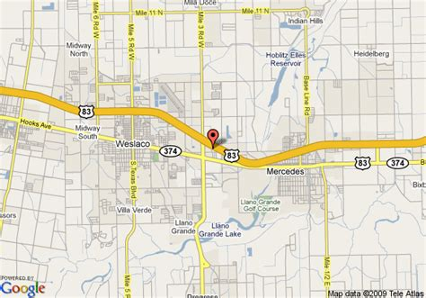 map of mercedes texas map of inn express hotel suites weslaco mercedes