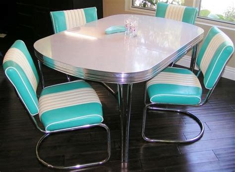 retro kitchen furniture 248 best chrome kitchen dinette table and chairs images on