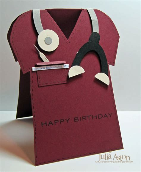 Creative Handmade Birthday Gifts - birthday card for a special doctor this was