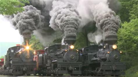 triple header  steam  smoke train fanatics