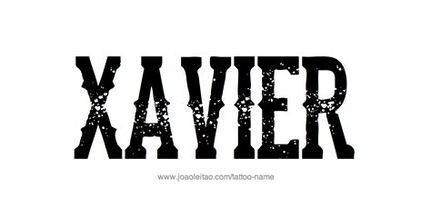 tattoo designs xavier xavier name designs