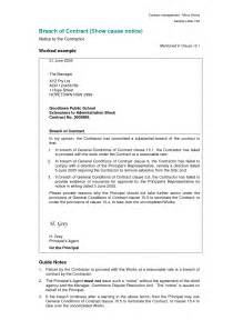 Mortgage Breach Letter Printable Sle Breach Of Contract Letter Construction