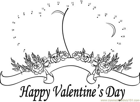 printable valentine dot to dot special valentine s day dot to dot printable worksheet