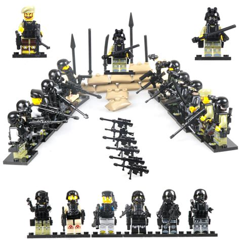 aliexpress buy 12pcs city swat team cs commando army soldiers with weapon gun