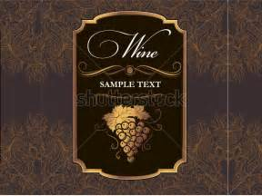 label template for wine format of wine label sample