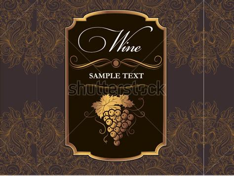 wine bottle label template label template for wine format of wine label sle