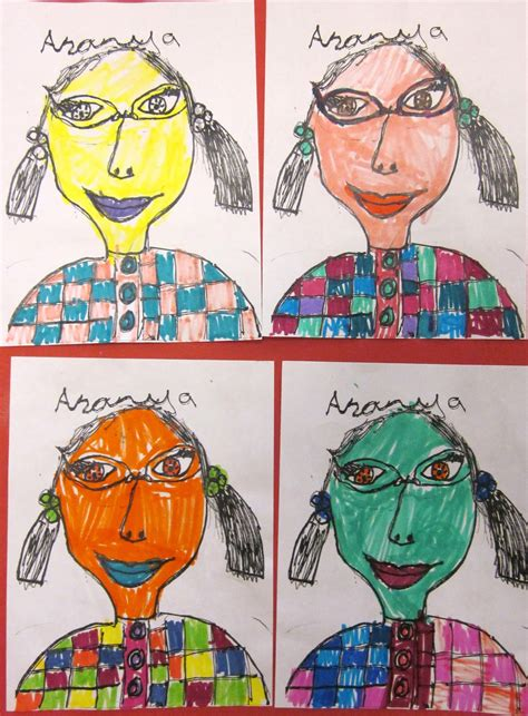 andy warhol style is basic self portraits in the