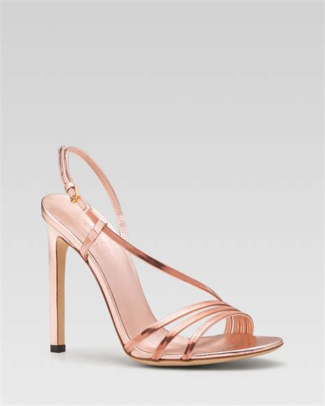 gold sandals high heels gucci othilia evening high heel sandal in gold gold