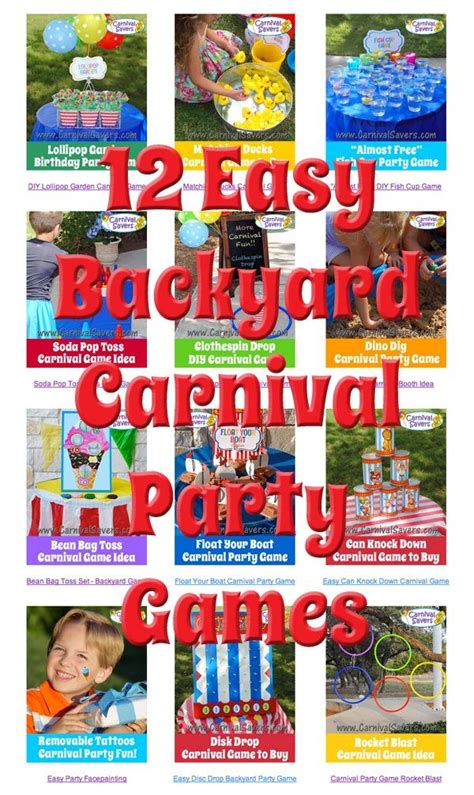 backyard carnival party ideas 12 easy backyard carnival party games pint sized pre k
