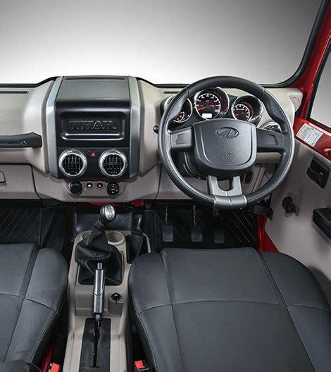 mahindra thar 2017 interior mahindra thar price specifications fuel consumption