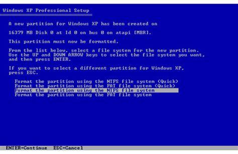 format cd r windows xp windows xp format atmak ve kurtarma konsolu kullanımı
