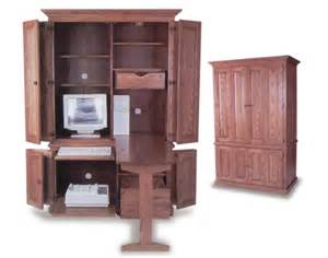 amish built deluxe computer armoire amish office