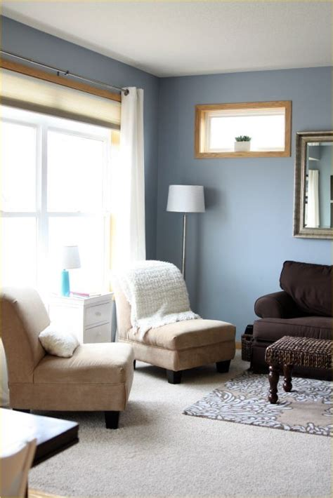 stylish paint colors  living room  oak trim