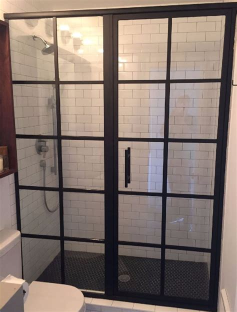 Glass Crafters Shower Doors Framed Shower Doors Grid Pattern Metropolis Series