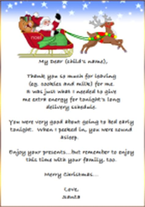 Thank You Letter Template To Santa Free Printable Quot Thank You Card Quot From Santa