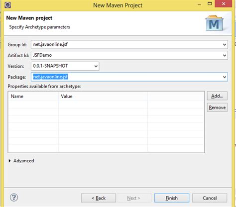 tutorial java maven 2 eclipse and jsf jsf 2 2 hello world tutorial exle in eclipse with