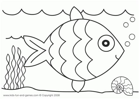 blank fish coloring pages blank rainbow fish outline to color for kindergarten fun