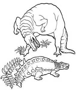 euoplocephalus coloring page ausmalbild ankylosaurus gegen tyrannosaurus