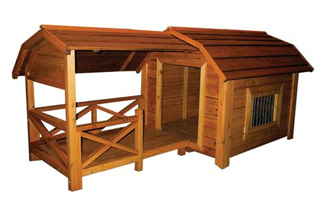 wooden dog house with porch quot wooden outdoor comfort barn pet dog house quot