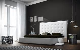 Modern Contemporary Bedroom Ludlow Modern Bed With Tall White Headboard Queen