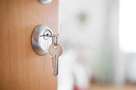 open bedroom door without key open door with keys key in keyhole stock photo image