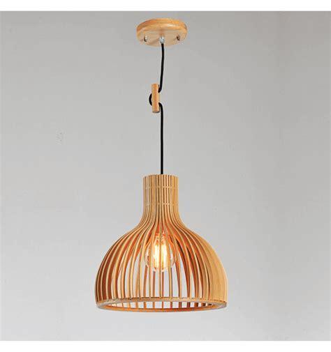 Suspension Bois Design by Suspension Scandinave Design Avec Abat Jour En Lamelles De