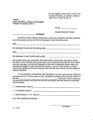 Petition For Letter Of Administration New York Letters Testamentary New York Fill Printable Fillable Blank Pdffiller