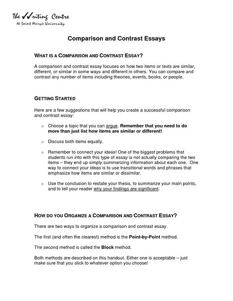Exle Of Analogy Essay by Exles Of Comparison And Contrast Essays Gmagazine Co