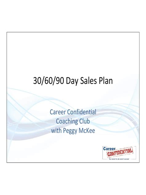 30 60 90 day plan 6 free templates in pdf word excel