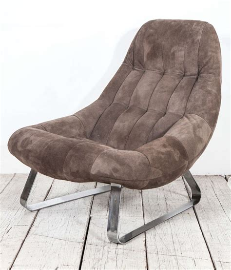 brown suede ottoman grey brown suede scoop earth chair and ottoman by percival