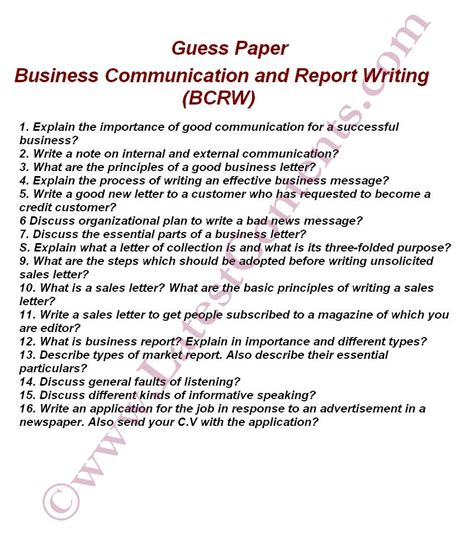 Letter Report Business Communication Writing A Business Report Paper