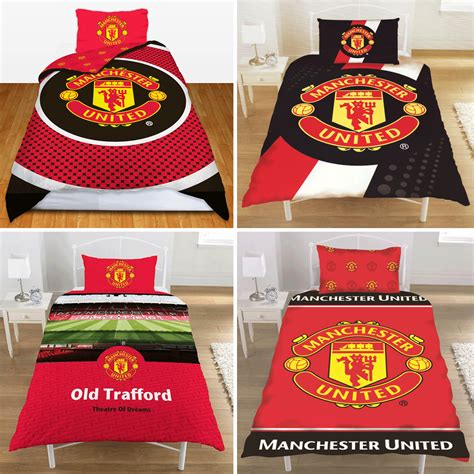 manchester united football club man utd fc single duvet