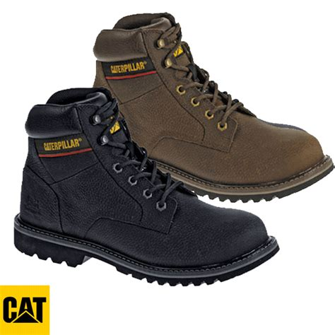caterpillar black brown electric safety boot 7051 7052
