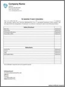 Certificate Of Payment Template by 6 Salary Certificate Templates Certificate Templates