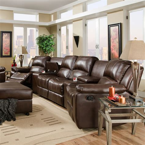 theater reclining sofa new sectional sofas with recliners brady four seat reclining theater seating with storage and