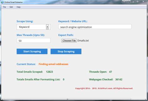 email extractor online portfolio krish puri