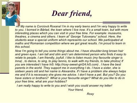 Introduction For Letter To Friend Letter