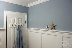 beach themed bathroom with board amp batten moulding 183 more info