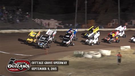 cottage grove raceway highlights world of outlaws sprint cars cottage grove