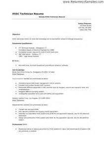 hvac resume template doc 618800 hvac resume sle bizdoska
