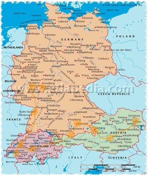 austria germany map map germany austria map