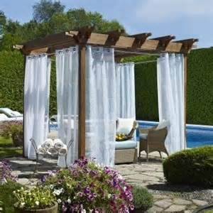 Outdoor Curtains For Pergola Outdoor Decor Biscayne Sheer Grommet Panel Www