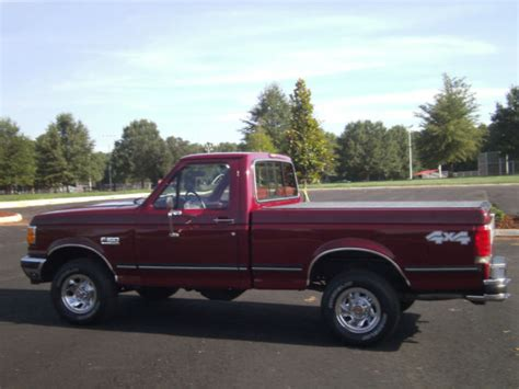 ford f150 single cab short bed for sale ford f 150 standard cab pickup 1990 burgundy for sale