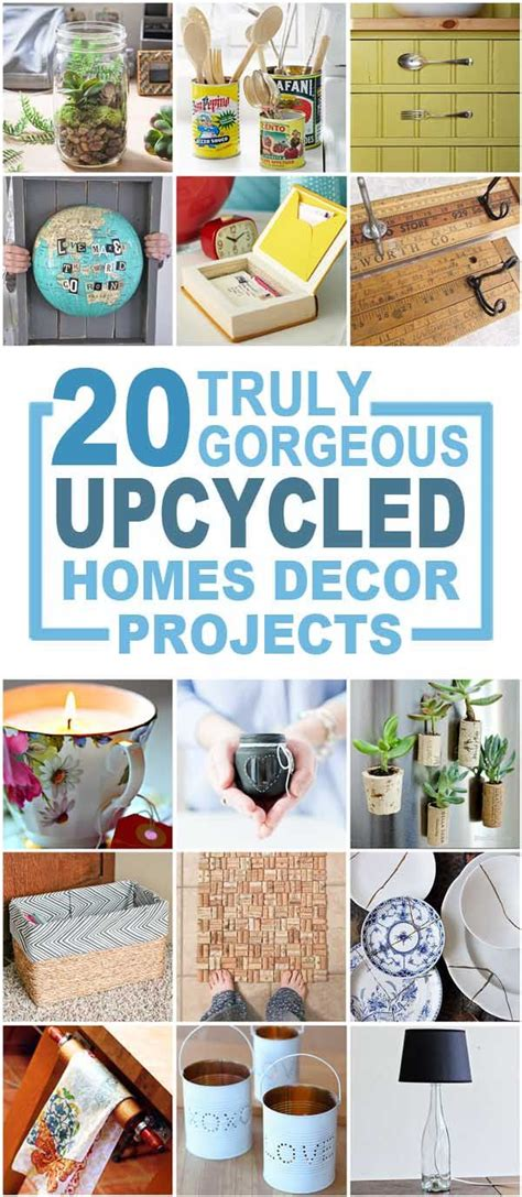 truly gorgeous upcycled home d 233 cor items recycled crafts