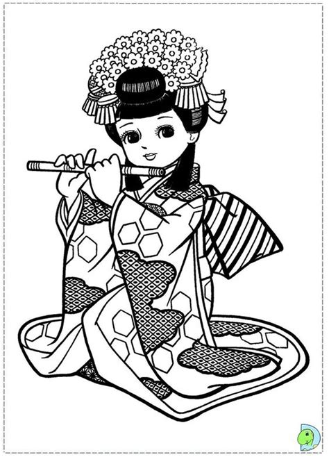 japanese girl kimono coloring page japanese girl coloring page asian coloring pages