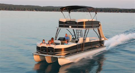 best small pontoon boats 2017 catamaran pontoon boat outboard double terrace deck
