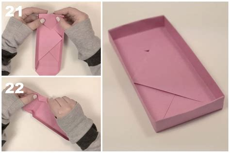 Origami Rectangle Box With Lid - rectangular origami box