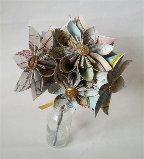 Buttonhole Flower Origami - origami paper flower wedding bouquet buttonhole alaternative