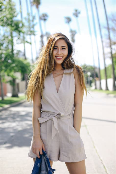 blogger korea brown romper krys khloe korean fashion blogger spring